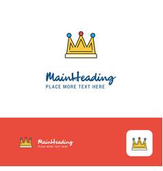 creative crown logo design flat color logo place vector image