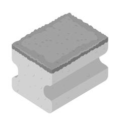 Dishwashing sponge icon in monochrome style vector