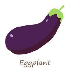 eggplant icon isometric style vector image