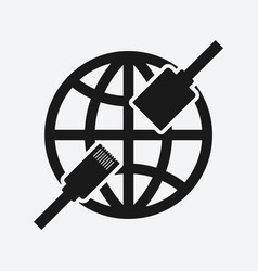 ethernet connector network symbol vector image