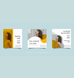 Fashion social media feed post promotion design vector