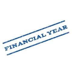 Financial Year Watermark Stamp vector