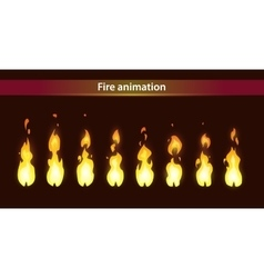 fire animation sprites vector image