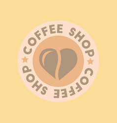Flat icon on background coffee shop logo vector