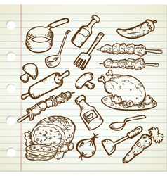 FOOD AND COOKWARE vector image