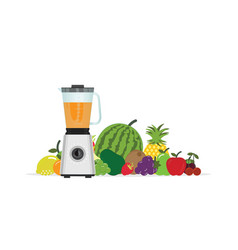 Fruit juice squeezer or blender kitchen appliance vector