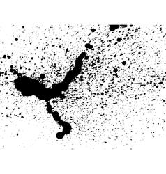 Graffiti paint splatter pattern in black on white vector