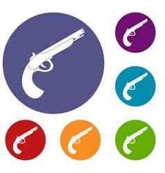 Gun icons set vector