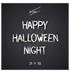 Halloween author designed lettering vector