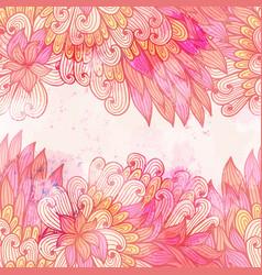 hand drawn seamless pink invitation card vector image