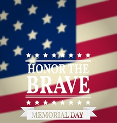Happy Memorial Day Memorial Day greeting card vector image