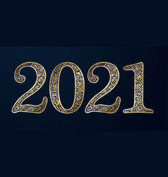 Happy new year background with 2021 sign vector