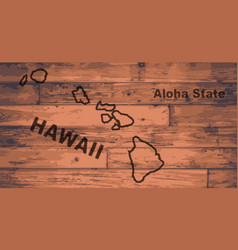 hawaii map brand vector image