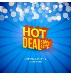 Hot deal sale 3d letters poster Promotional vector image