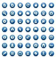 icons for computer interface vector image
