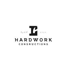 initial letter c with hammer logo design vector image