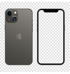 Iphone 13 graphite color realistic smartphone vector