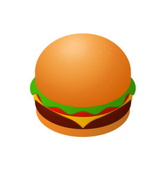 isometric burger icon vector image