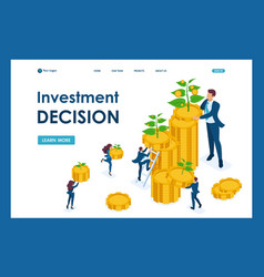 isometric investment solutions for income growth vector image