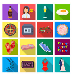 Leisure trade travel and other web icon in flat vector