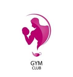 Logo fitness club vector