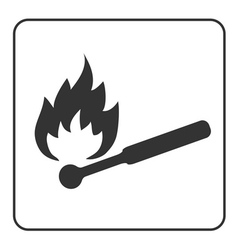 Matchstick icon Hot ignite match sign vector