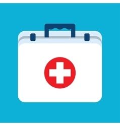 Medicine chest flat object vector