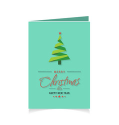 merry christmas creative design with christmas vector image