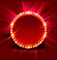 neon frame sign in shape a circle vector image