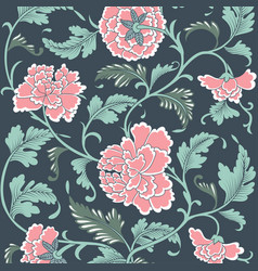 ornamental colored antique floral pattern vector image