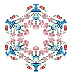 Ottoman carnations and tulips version two vector