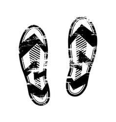 pair footprints human shoes silhouette shoe soles vector image