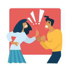 Parents fighting and divorce family crisis vector