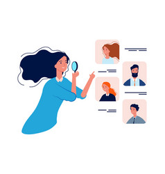 People resources hr manager boss choose vector