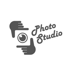 Photography camera concept logo icon vector