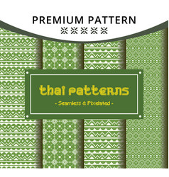 pixelated green seamless pattern from thailand vector image