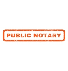 Public notary rubber stamp vector