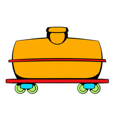 railroad tank icon icon cartoon vector image