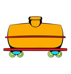 railroad tank icon icon cartoon vector image
