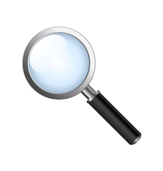 realistic magnifying glas vector image