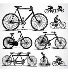 Retro bikes vector