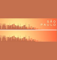 sao paulo beautiful skyline scenery banner vector image