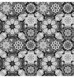 Seamless pattern on the tiles majolica arabic vector