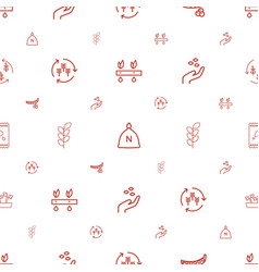 seed icons pattern seamless white background vector image