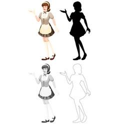 Set maid character vector