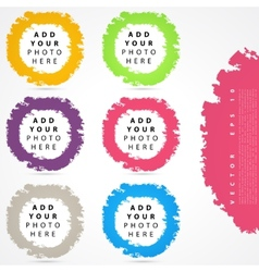 Set of color circles vector