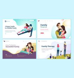 Set of web page design templates for vector
