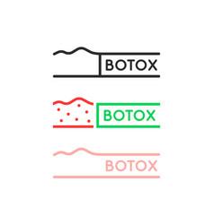 set thin line simple botox logo vector image