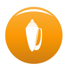 Shell icon orange vector
