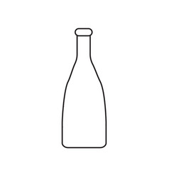 simple contour icon with a bottle image a drawing vector image